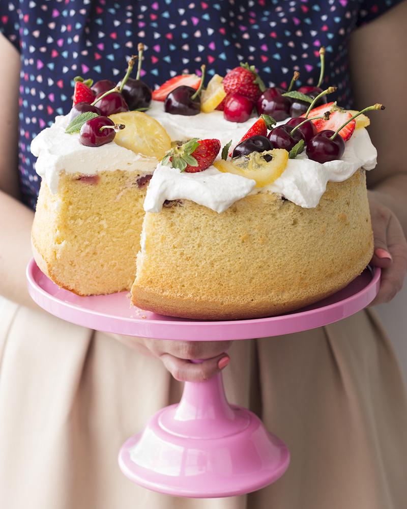 chiffon cake alle ciliegie