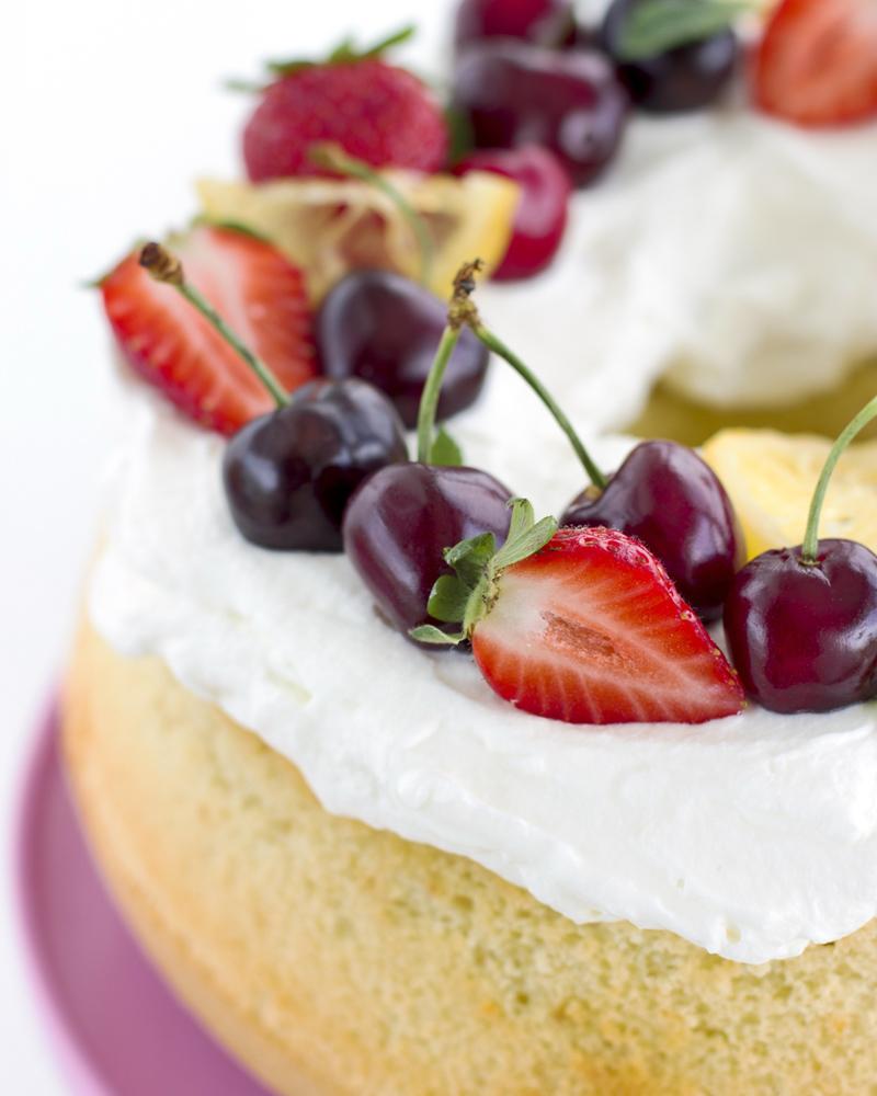 chiffon cake alle ciliegie dettaglio