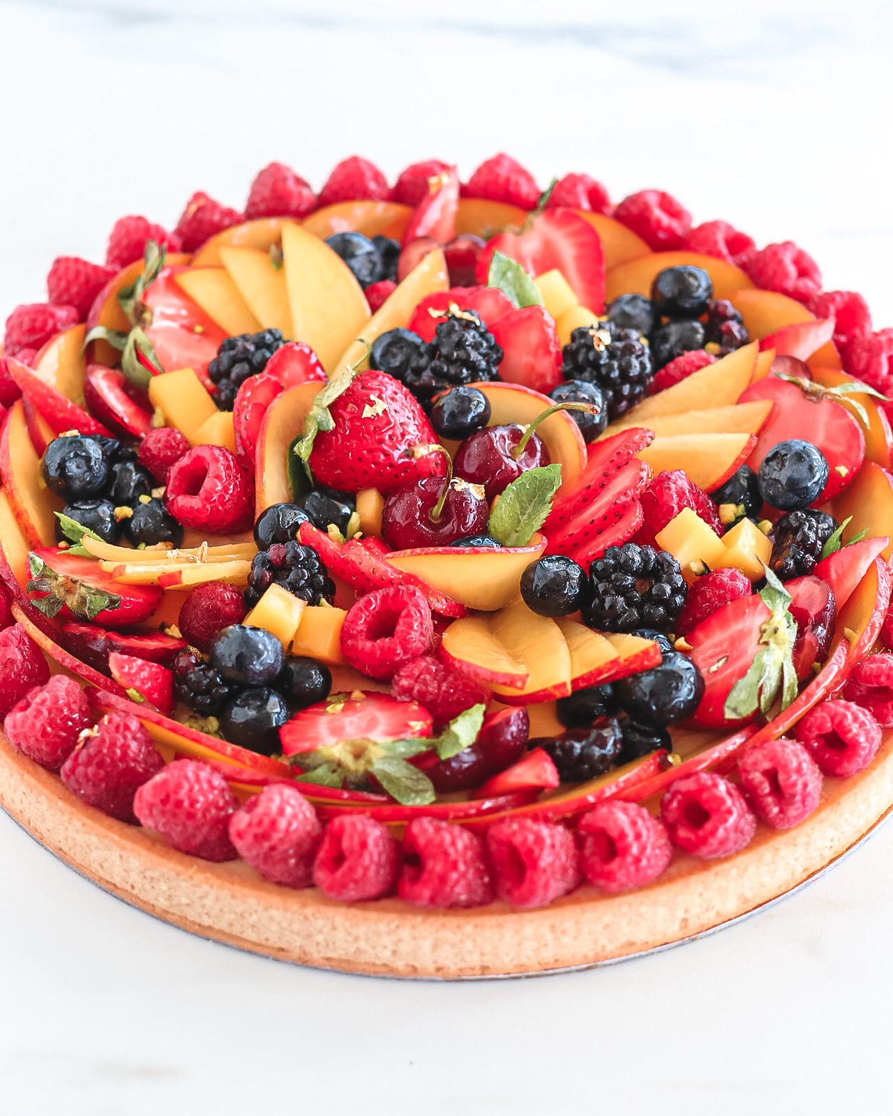 crostata di frutta e crema pasticciera